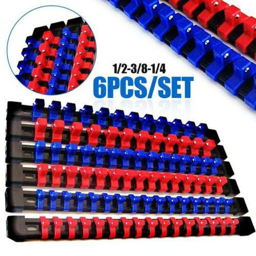 6 GOLIATH INDUSTRIAL MOUNTABLE SOCKET RAIL RACK HOLDER ORGANIZER 1//4 3//8 1//2 USA