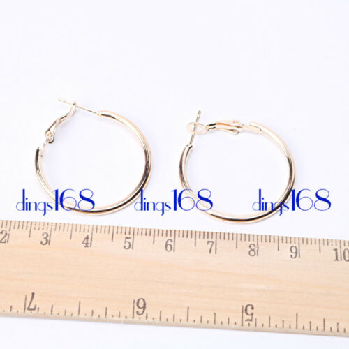 18K Gold Filled Tarnish-Free Small eXtra Large Many Size Thin Hoop Earrings E3R