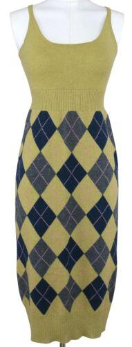 CHANEL EDINBURGH Sweater Dress Knit Sleeveless Lim
