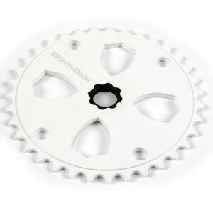 Eighthinch-48-Splined-Sprocket-Chainring-BMX-Freestyle-37t-White
