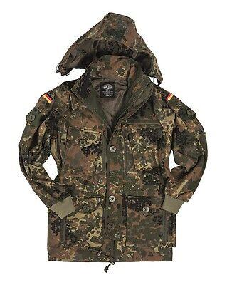 Mil-Tec Kommandojacke Smock Flecktarn Arbeitsjacke Jacke Feldjacke S-3XL