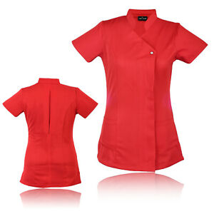Work-Hairdressing-Therapist-Tunic-Spa-Nail-Salon-Beauty-Healthcare-Uniform-UK
