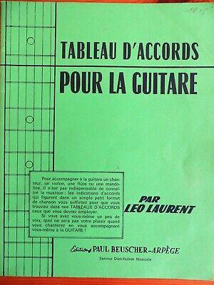 Tableau D Accords Pour La Guitare Leo Laurent Ebay
