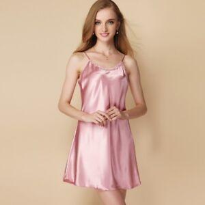 Vestido-de-Noche-Lady-Satinado-Enaguas-Completas-slip-debajo-de-dormir-camisolas-de-seda-sintetica