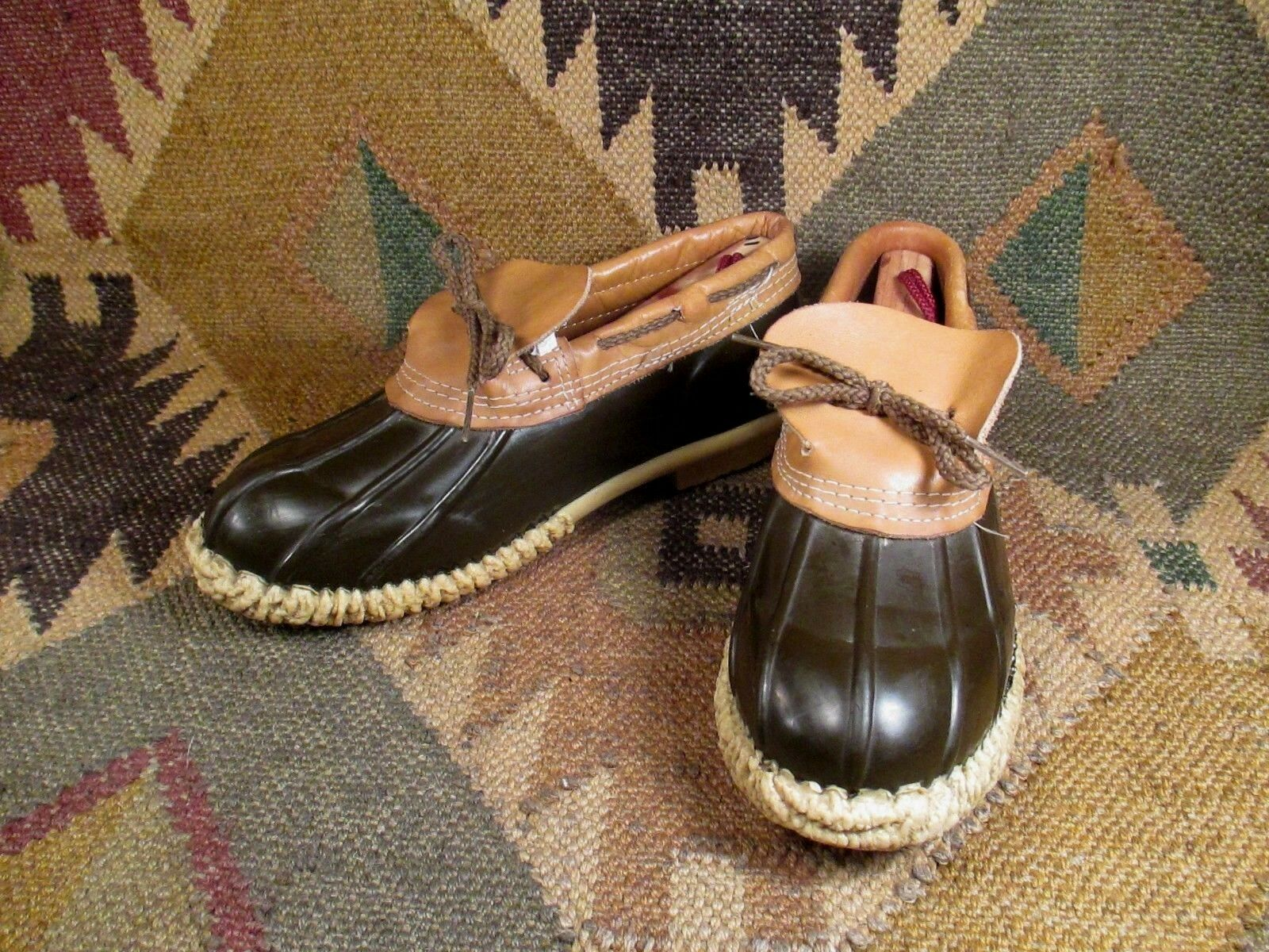 Vintage  braun Rubber Rubber Rubber and Leather Duck Hunting schuhe Stiefel Größe 8 made in USA 74f838