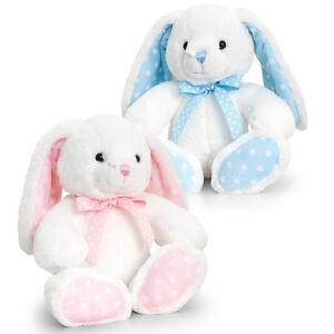 Keel Toys White/Pink or White/Blue Rabbits  25cm