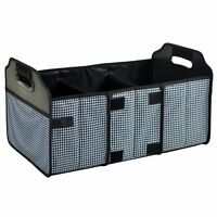 Picnic At Ascot Foldable Trunk Organizer, Houndstooth , New, Free Shipping