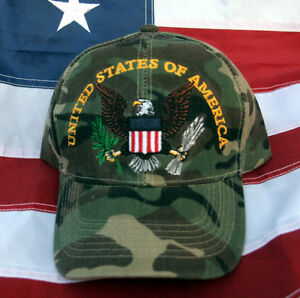 4b21ddbe0ff872 UNITED STATES OF AMERICA EAGLE HAT CAP US ARMY MARINES NAVY AIR ...