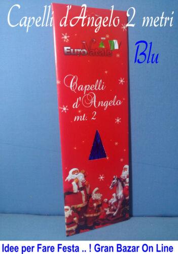 NATALE FILI CAPELLI D/'ANGELO BLU METAL 2 mt ALBERO PRESEPE DECORAZIONE