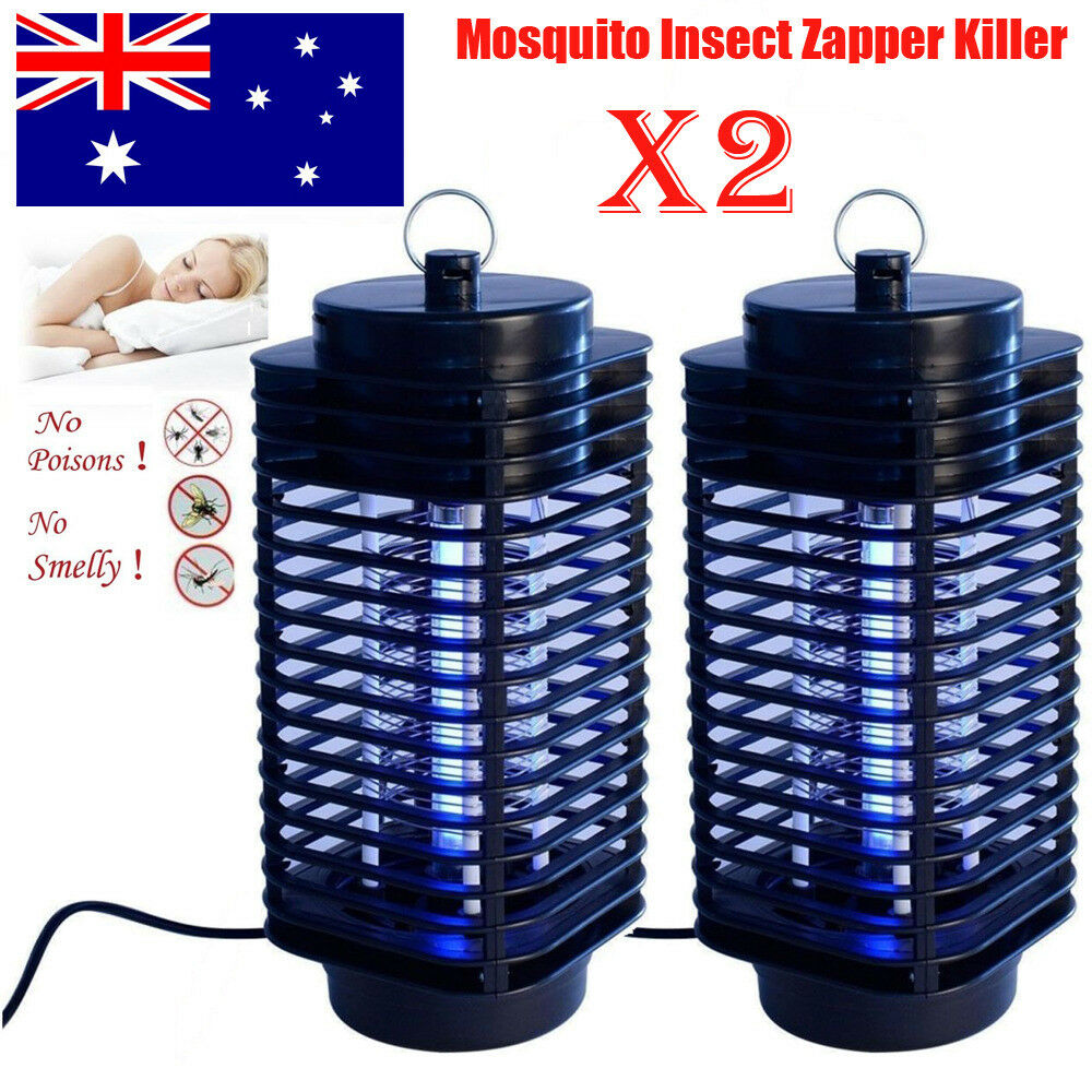 2* Electric Insect Zapper Mosquito Fly Bug Killer Control Trap Blue ...