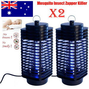 DernièRe Collection De 2* Electric Insect Zapper Mosquito Fly Bug Killer Control Trap Blue Lamp L Dxy Emballage De Marque NomméE