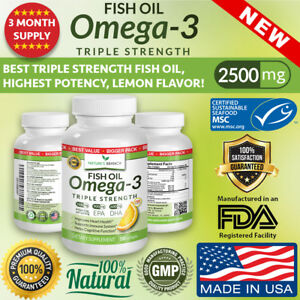 BEST-TRIPLE-STRENGTH-Omega-3-Fish-Oil-Pills-3-MONTH-SUPPLY-2500mg-HIGH-POTENCY