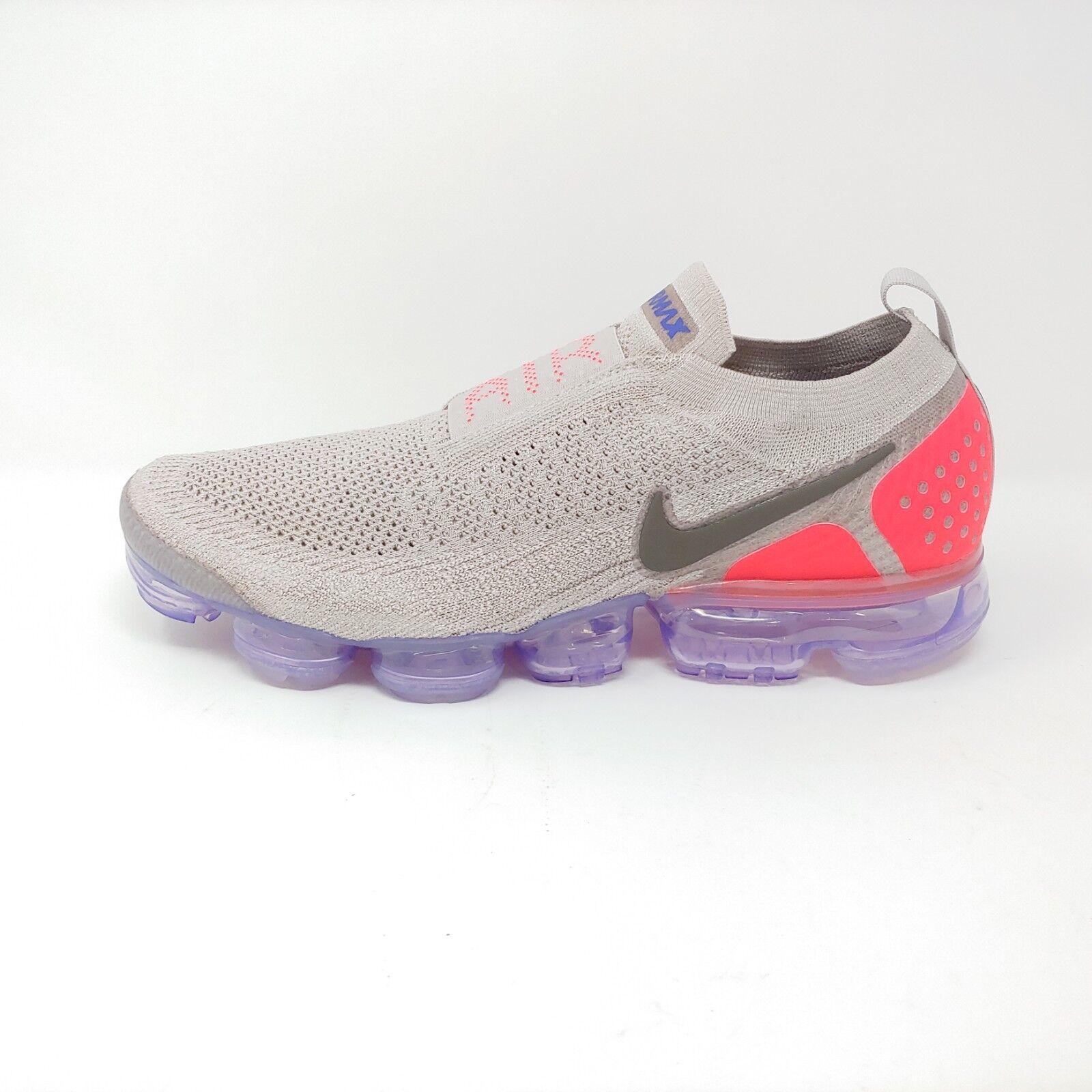 Nike air vapormax flyknit moc 2 mond teilchen solar rote sneaker fk männer größe 12,5