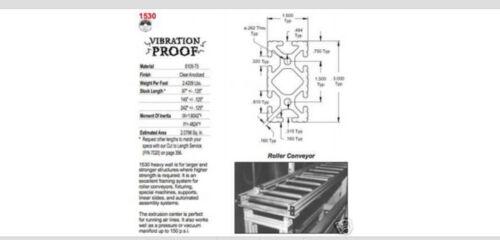 """22"""" pcs cut #1530 T-Slot 8020 Alum Ext 1 80//20 Inc"""