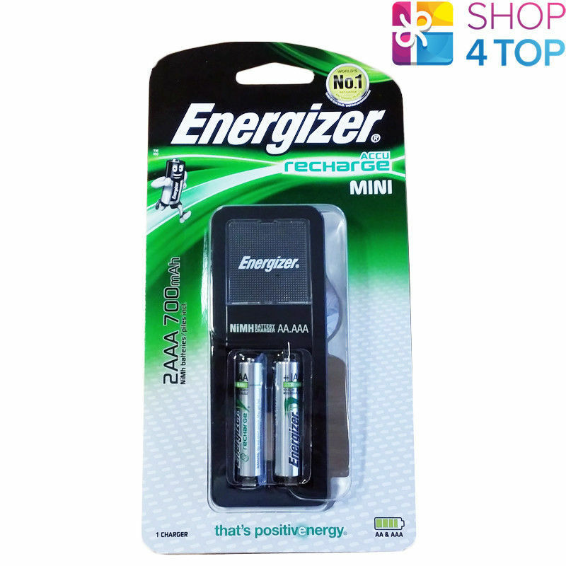 ENERGIZER ACCU RECHARGE CHARGER 1 HOUR FOR AAA AA BATTERIES /& 4 AA BATTERIES NEW