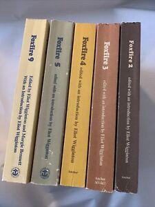 FOXFIRE Books Lot 2 3 4 5 9 Eliot Wigginton Homesteading Survival Prep