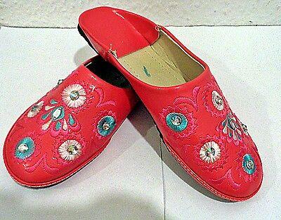 Orientalische Babouche Fes Damen Schuhe Hausschuhe Pantofel Marokko Marakesch