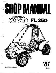 honda-fl250-odyssey-manual  results - of 193  also trx300fw  1977-  accessories  shop/service/repair 1986- fourtrax4x4, 1987- trx350d foreman  4x original