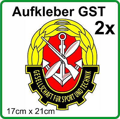 2x Emblem pegatinas RDA GST para robur IFA w50 Barkas Wartburg Lada Ural s4000
