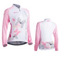 Women's Road Bike Clothing Fashion Jerseys Long Sleeve Tops Riding Jackets Shirt