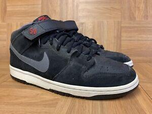 RARE-Nike-Dunk-Mid-PRO-SB-GRIPTAPE-Black-LT-Graphite-Sz-10-5-314383-001-Men-039-s