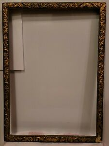 ANTIQUE-EASTLAKE-AESTHETIC-MOVEMENT-VICTORIAN-GILT-WOOD-GESSO-PICTURE-FRAME14X20