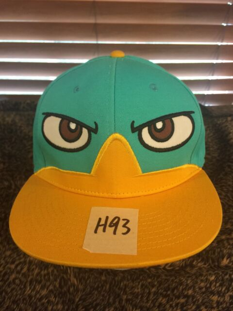 Men s NWOT DISNEY Phineas   Ferb One Size Blue Yellow Hat H93  d483b2f35a78