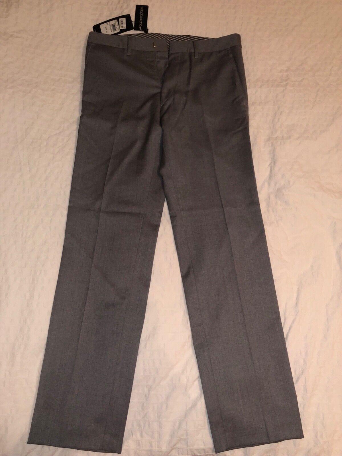 Boss Hugo Boss Wool Grey Men Suit Pants 32R