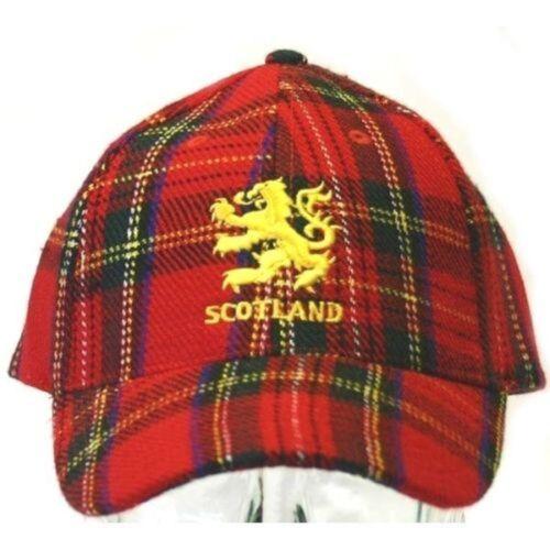 Scotland Royal Stewart Tartan Lion Rampant Baseball Cap