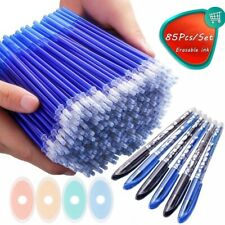 85pcs Erasable Pen Blue Color Refill Office Writing Ballpoint School Stationery
