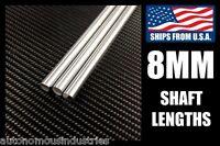 8mm Linear Motion Shafts, Hard Chrome 400mm/500mm/600mm/800mm/1000mm Lengths