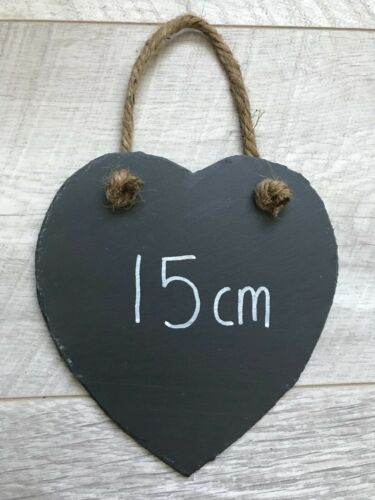 X12 Handmade Slate Hanging Heart Chalkboard Blackboard Shabby Chic Weddings