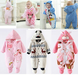 4fa37ed9393e Cotton Newborn Baby Clothes Sets Girls Boy clothes Romper Winter ...