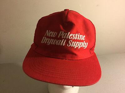 Vtg New Palestine Drywall Supply Adjustable Snapback Hat | eBay