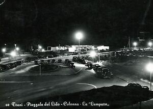 """"""" TRANI : Piazzale del Lido - Colonna - La Lampada """" Viaggiata Anno 1956 - Italia - """" TRANI : Piazzale del Lido - Colonna - La Lampada """" Viaggiata Anno 1956 - Italia"""