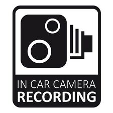 In Car CCTV Camera Recording Dash Cam Car Van Window Bumper Sticker Decal Black