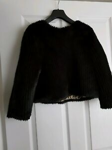 Small New Fake Fur Glamorous Black Brand Top Size S HAUHwqYv