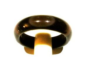everyday Wear GENUINE BROWN AGATE RING size O or P