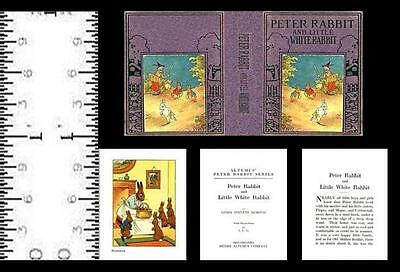 1:12 SCALE MINIATURE BOOK A NEW STORY OF PETER RABBIT DOLLHOUSE SCALE
