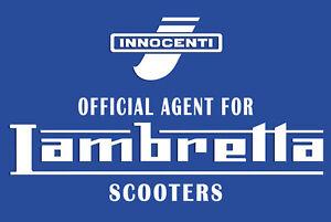 Lambretta-Letrero-Puerta-Placa-Oficial-Agente-Ideal-Para-Cualquier-SCOOTER