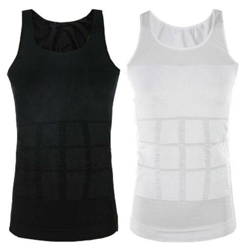 Herren Ultra Slim Taille Control Body Shaper Unterhemd Weste Abdomen Mieder Tops