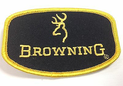 BROWNING BLACK GOLD SEW ON CLOTH BADGE SHOTGUN SHOOTING VEST PATCH