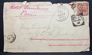 Sender-Hotel-Castelle-Paris-London-Stamp-from-the-USA-Versendet-1891-I-7826