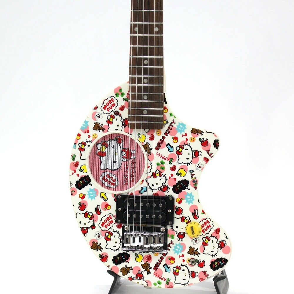 FERNANDES Nomad ZO-3 HK Hello Kitty mini Travel Electric Guitar Built-in Amp ZO3