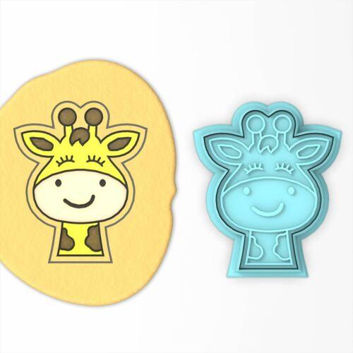Giraffe Face Cookie Cutter /& StampZoo Animals Jungle