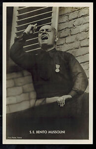 1937 Berlin Germany Benito Mussolini state visit Real Picture postcard Cover 6