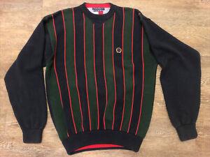 Vintage TOMMY HILFIGER Men's Crewneck Sweater Sz XL 100% Cotton Lion Logo 90s