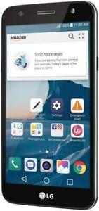 "New Sealed LG X charge 16 GB 5.5"" Unlocked AT&T/Sprint/T-Mobile Titanium LGUS601"