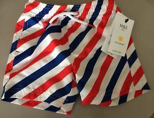 Dettagli su BNWT Ragazzi Swim Pantaloni corti. Quick Dry. età 18 24 MESI M&S, strisce SPEDIZIONE GRATUITA mostra il titolo originale