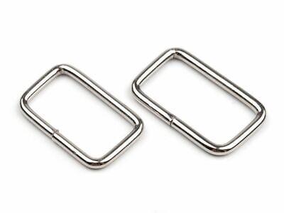 10 Ovalringe Gurtband 40 mm Stahl Schlaufe Metall